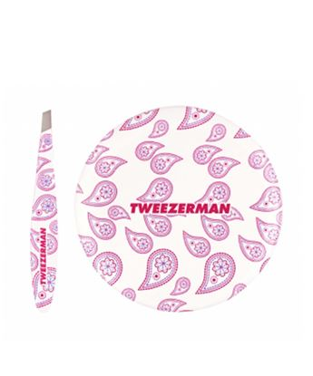 Picture of Paisley Mini Slant Tweezer and Mirror Set