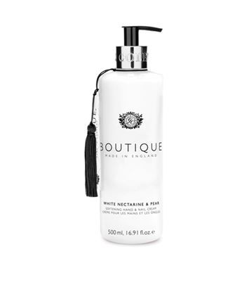 Picture of BOUTIQUE  WHITE NECTARINE & PEAR HAND&NAIL CREAM 500ML