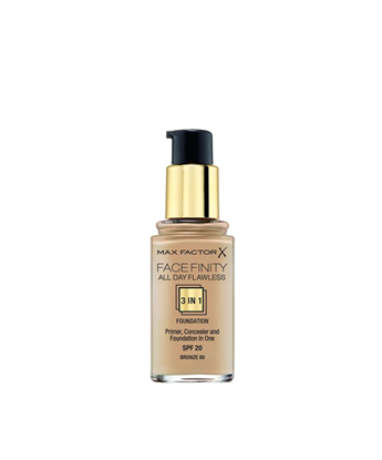 Picture of FACE FINITY ALL DAY FLAWLESS 3 IN 1 FOUNDATION 80 BRONZE