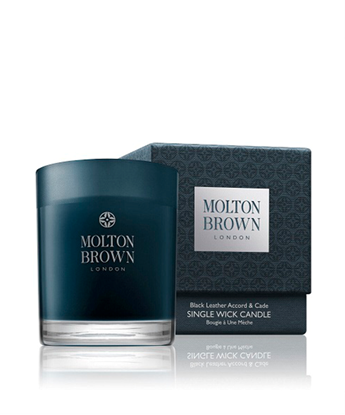 Picture of Molton Brown Black Leather Accord & Cade Single Wick Candle