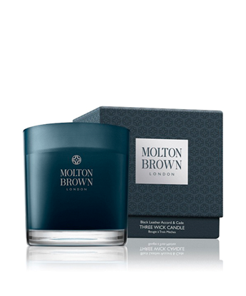 Picture of Molton Brown Black Leather Accord & Cade 3 Wick Candle