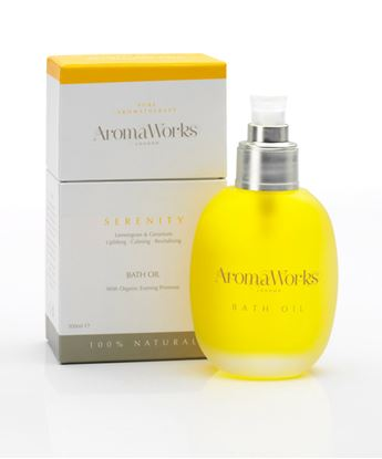 Picture of AROMAWORKS LONDON  BATH OIL (SERENITY) 100ML