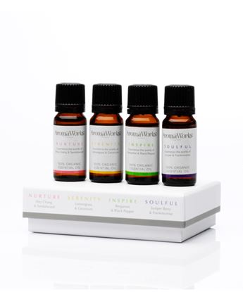 Picture of AROMAWORKS LONDON BOX OF ESSENTIAL OILS (N,S,I,S) 4X10