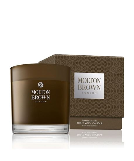 Picture of Motlon Brown Tobacco Absolute 3 Wick Candle