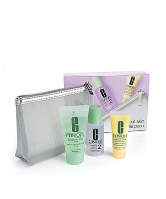 Picture of Hello, great skin. Clinique 3-Step Skin Type 1/2 Boxed Gift Set