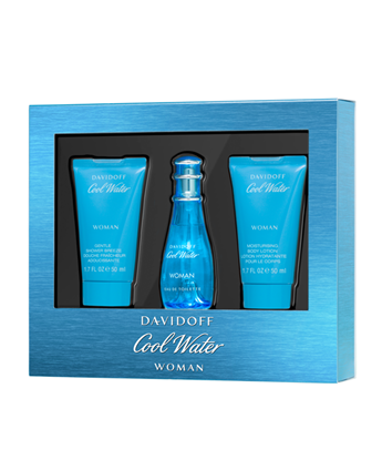 Picture of COOL WATER WOMEN EDT SET (EDT30ML+BL 50ML+SG 50ML)