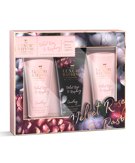 Picture of Velvet Rose & Raspberry Tempting Trio Hand Cream Set