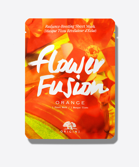 Picture of FLOWER FUSION ORANGE RADIANCE-BOOSTING SHEET MASK