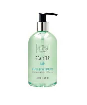 Picture of THE SCOTTISH FINE SOAPS SEA KELP HAIR & BODY SHAMPOO 300ML