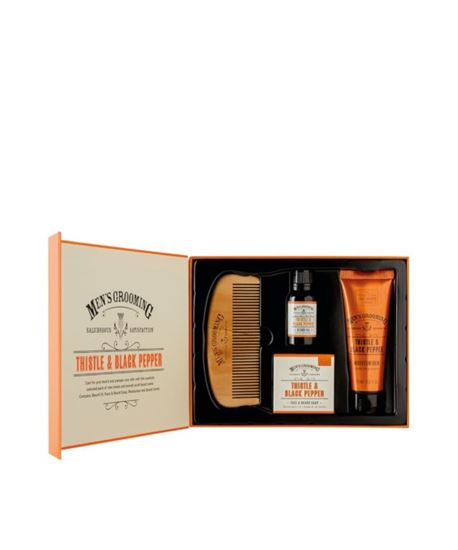 Picture of THE SCOTTISH FINE SOAPS THISTLE & BLACK PEPPER FACE&BEARD CARE KIT
