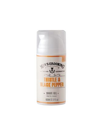 Picture of THE SCOTTISH FINE SOAPS THISTLE & BLACK PEPPER SHAVE GEL 100ML