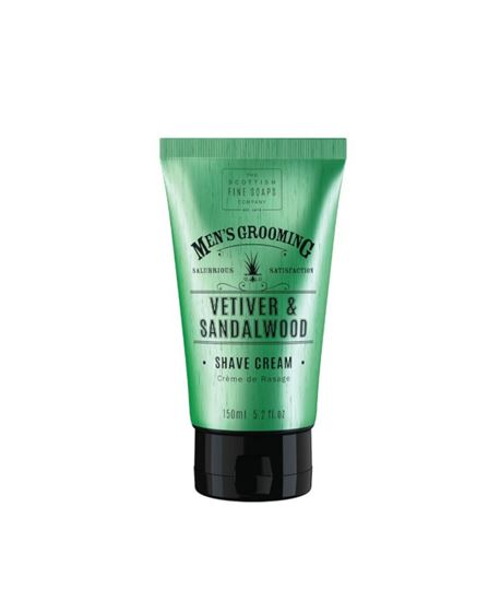 Picture of THE SCOTTISH FINE SOAPS VETIVERT & SANDALWOOD SHAVE CREAM 150ML