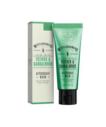 Picture of THE SCOTTISH FINE SOAPS VETIVERT & SANDALWOOD AFTERSHAVE BALM 75ML