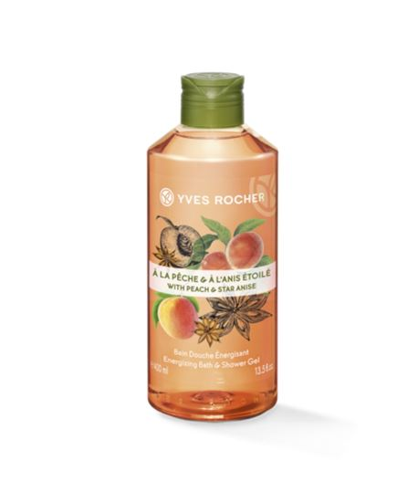 Picture of Peach Star Anise Energizing Bath and Shower Gel - 400ml