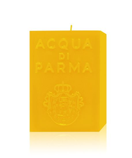 Picture of YELLOW CUBE CANDLE 1KG