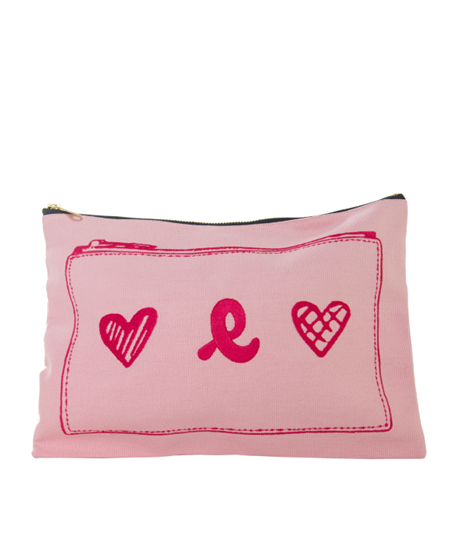 Picture of CANVAG HEART SHAPE PINK